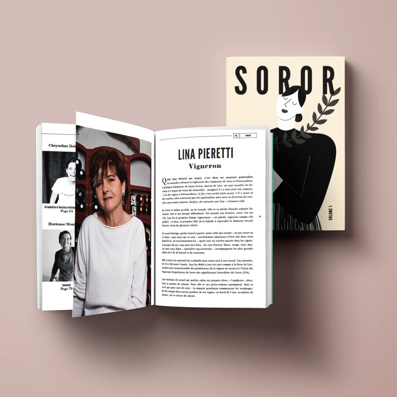 revue soror couverture pages lina pieretti