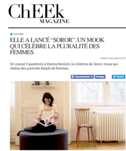 cheek magazine, soror cheek magazine, vanina denizot