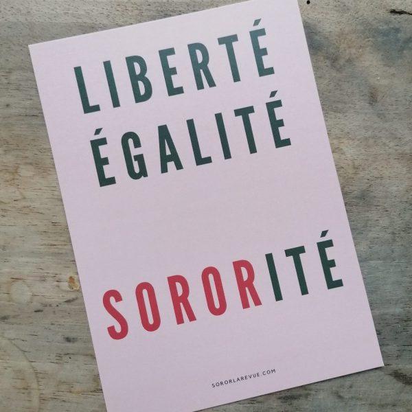 carte postale liberté égalité sororité