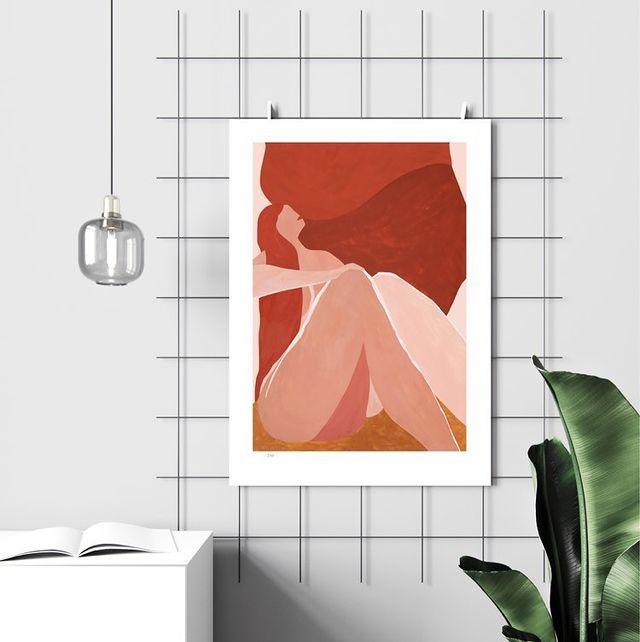 affiche femme peinture tirage numéroté Sara odman